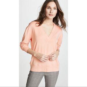 Rag & Bone Pink Flora V-neck Pullover Sweatshirt